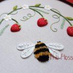 Strawberries and Bee Stumpwork