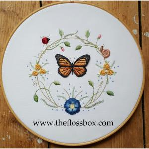 Butterfly Wreath Stumpwork