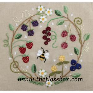 Crewel Fruit Wreath