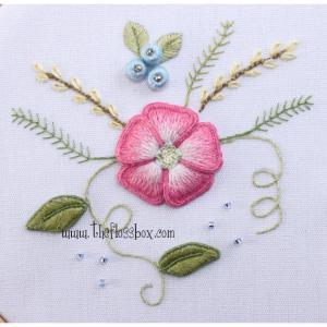 Pink Flower Stumpwork