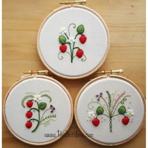 Strawberries Stumpwork Collection