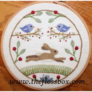 The Hare Crewel Embroidery