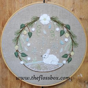 Winter Wreath Crewel Embroidery