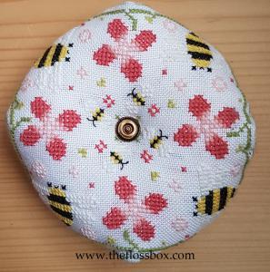 Bee and Flowers Biscornu