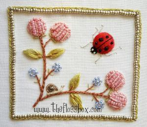 Ladybug Stumpwork