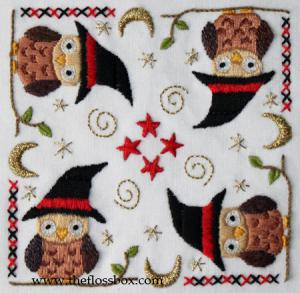 Owl Biscornu Top