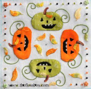 Pumpkin Biscornu top