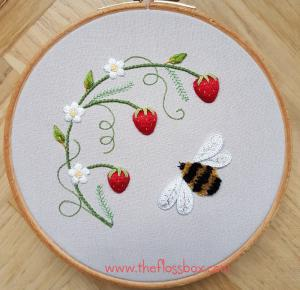 Strawberries and Bee