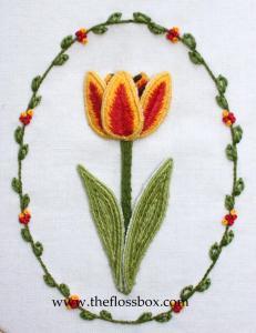 Stumpwork Tulip