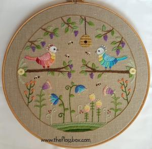 Two Birds Crewel Embroidery